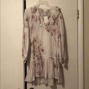 H&M long sleeve dress with flowers